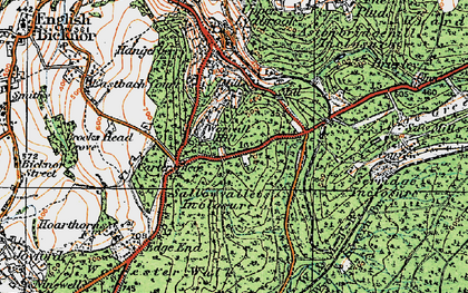 Old map of Worrall Hill in 1919