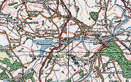 Old map of Worsbrough in 1924