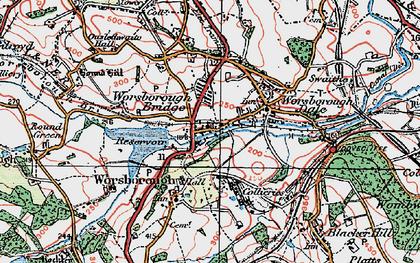 Old map of Worsbrough Bridge in 1924