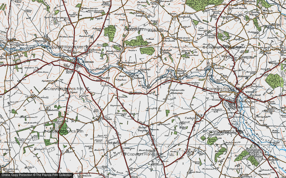 Old Map of Worsham, 1919 in 1919