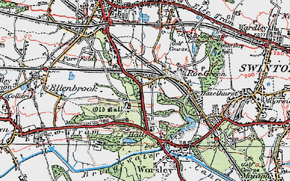 Old map of Worsley in 1924
