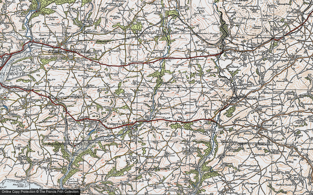 Old Map of Worston, 1919 in 1919