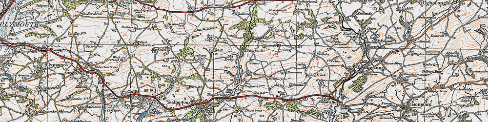 Old map of Worston in 1919