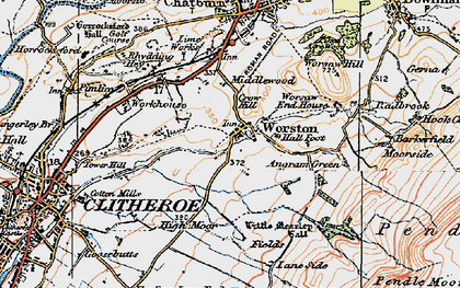 Old map of Barkerfield in 1924