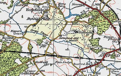 Old map of Worten in 1921