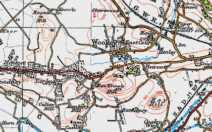 Old map of Worth in 1919
