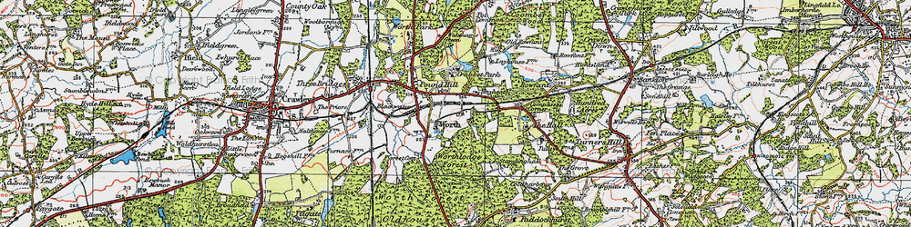 Old map of Worth in 1920