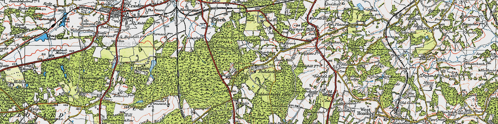 Old map of Whitely Hill in 1920