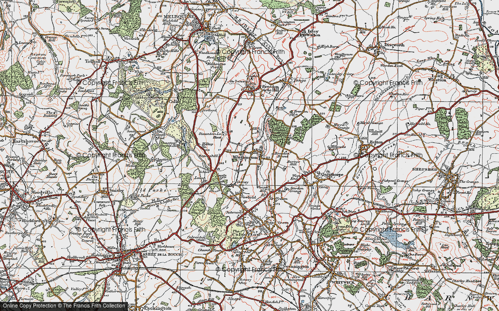 Old Map of Worthington, 1921 in 1921