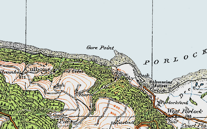Old map of Worthy in 1919