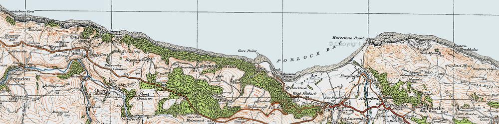 Old map of Westcott Brake in 1919