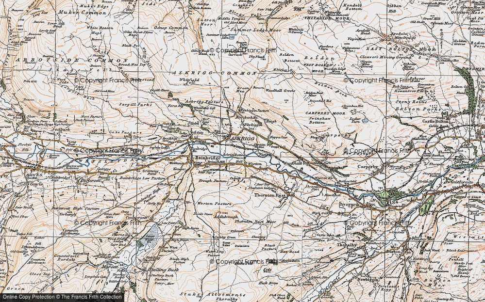 Old Map of Worton, 1925 in 1925