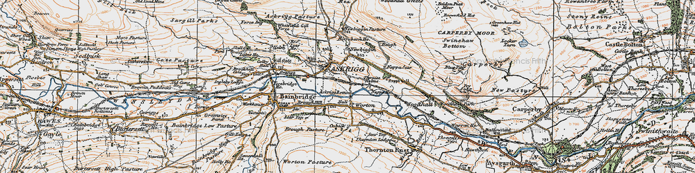 Old map of Worton in 1925