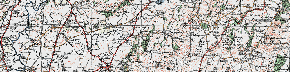 Old map of Wotherton in 1921