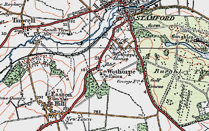 Old map of Wothorpe Ho in 1922