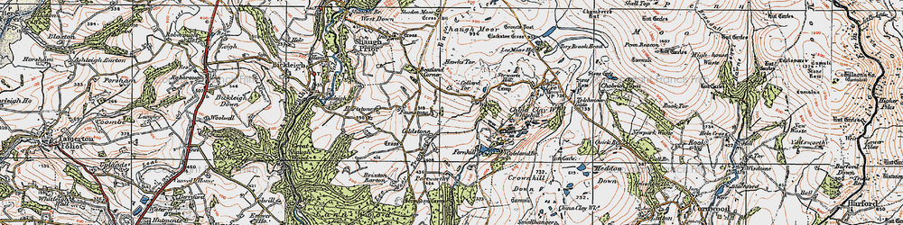 Old map of Wotter in 1919