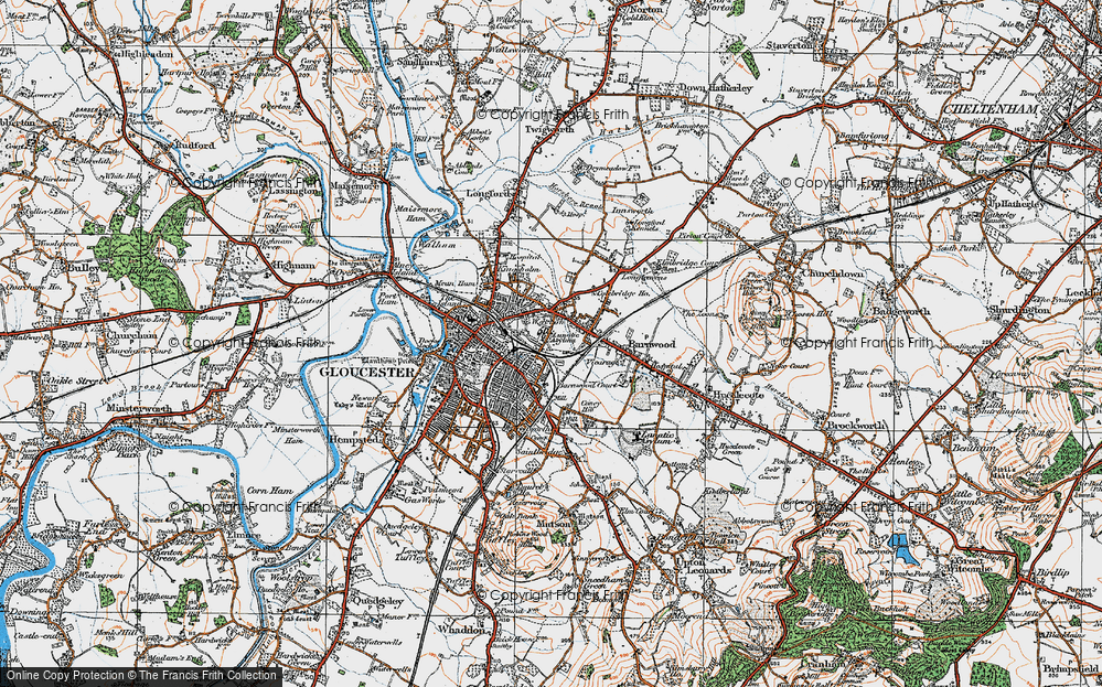 Old Map of Wotton, 1919 in 1919