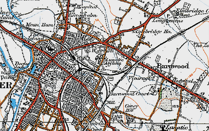 Old map of Wotton in 1919