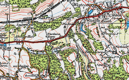 Old map of Wotton in 1920