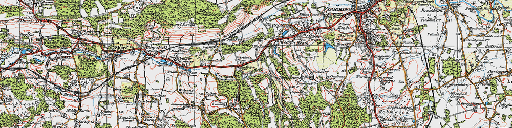 Old map of Westlane Barn in 1920