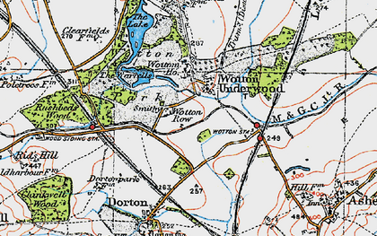 Old map of Wotton Ho in 1919