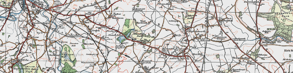 Old map of Wragby in 1925
