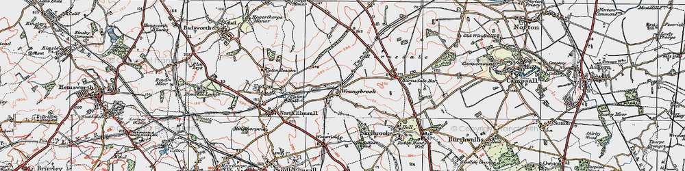 Old map of Wrangbrook in 1923