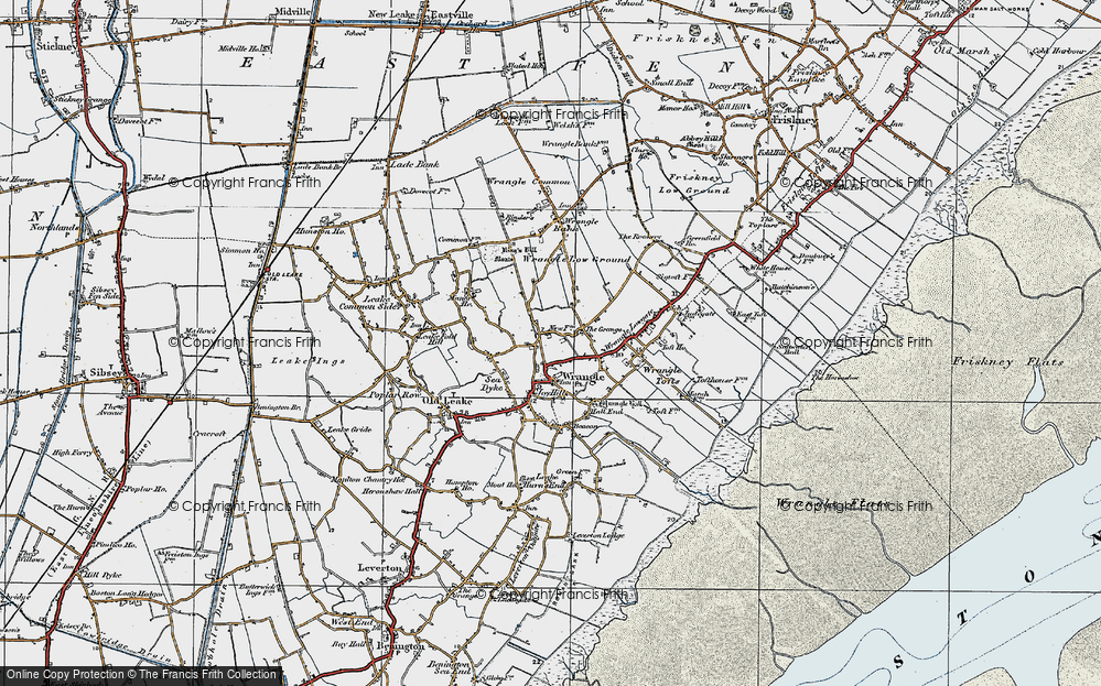 Old Map of Wrangle, 1922 in 1922