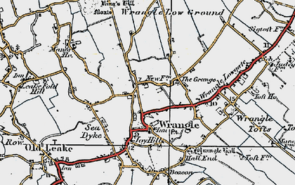 Old map of Wrangle in 1922