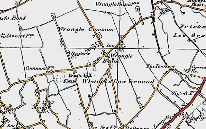Old map of Wrangle Common in 1922
