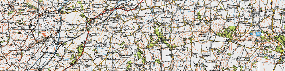 Old map of Wrangway in 1919