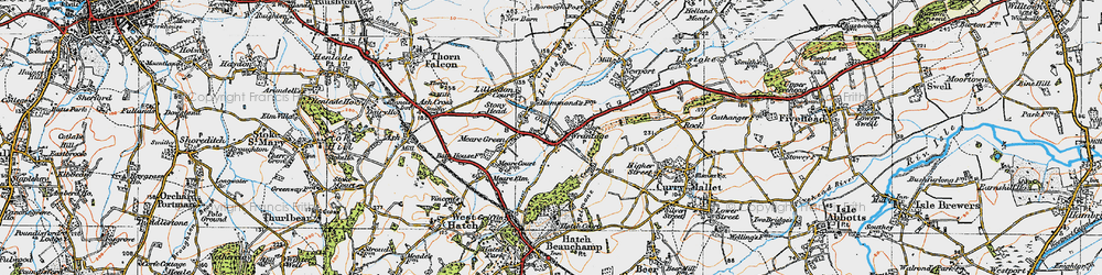 Old map of Wrantage in 1919