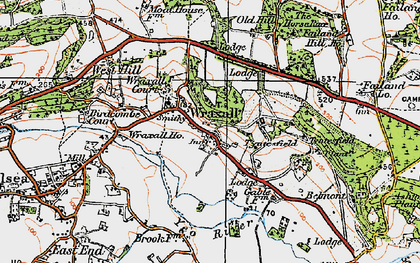 Old map of Wraxall in 1919