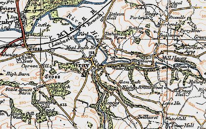 Old map of Wray in 1924