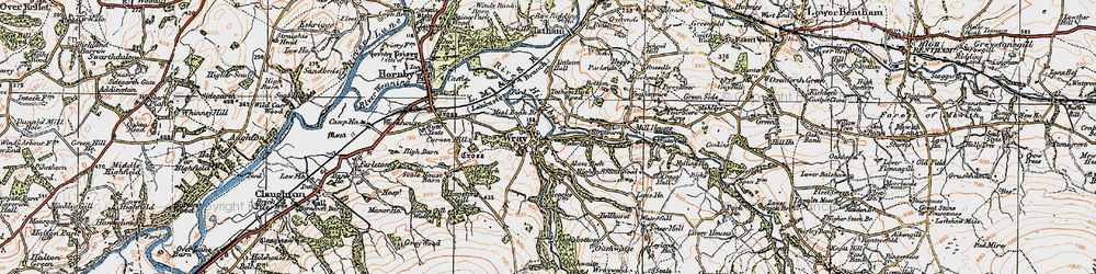 Old map of Above Beck in 1924
