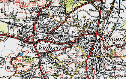 Old map of Wray Common in 1920