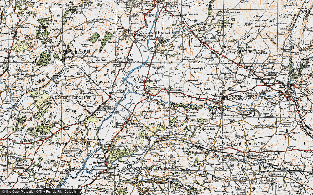 Old Map of Wrayton, 1924 in 1924