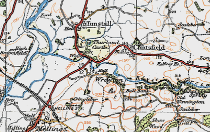 Old map of Wrayton in 1924
