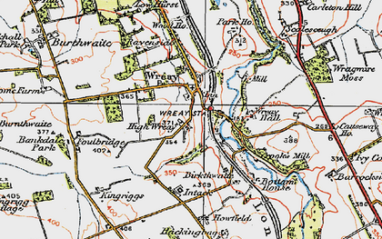 Old map of Wreay Hall in 1925