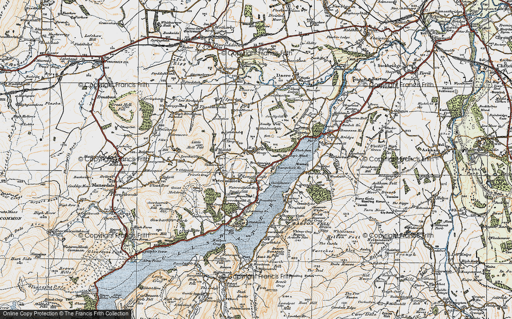 Old Map of Historic Map covering Tongue in 1925