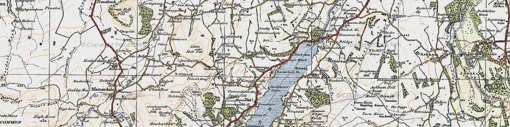 Old map of Tongue in 1925
