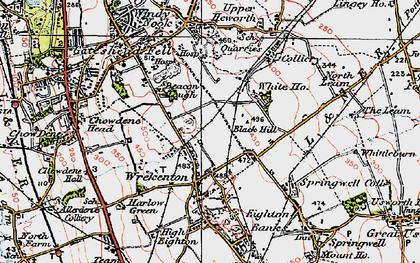Old map of Wrekenton in 1925