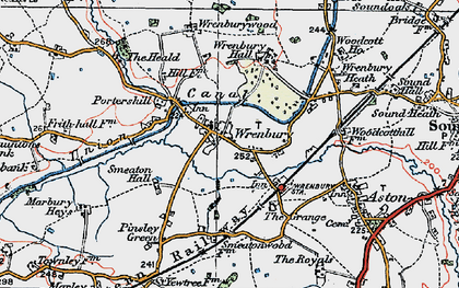 Old map of Wrenburywood in 1921