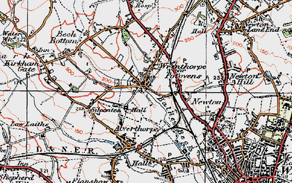 Old map of Balne Beck in 1925