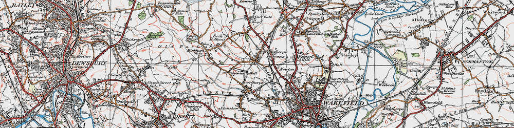 Old map of Wrenthorpe in 1925