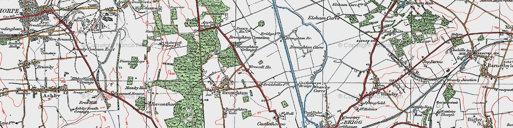 Old map of Wressle in 1923