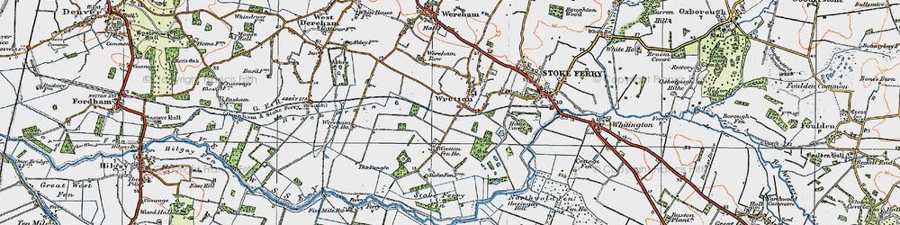 Old map of Wretton Fen Ho in 1922