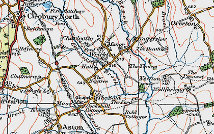 Old map of Wrickton in 1921