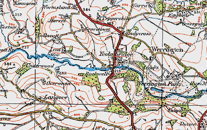Old map of Leat in 1919