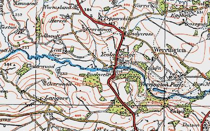 Old map of Wringsdown in 1919